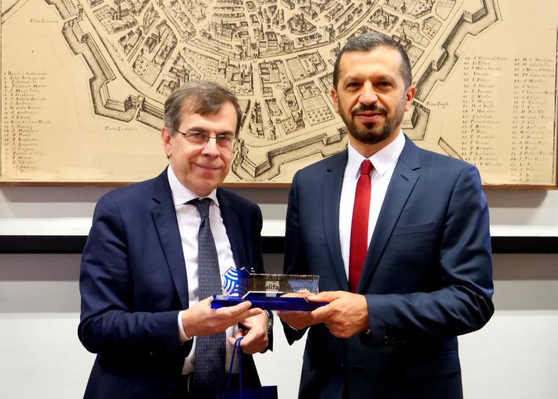 Elio Franzini con Arif Al Hammadi_University of Abu Dhabi