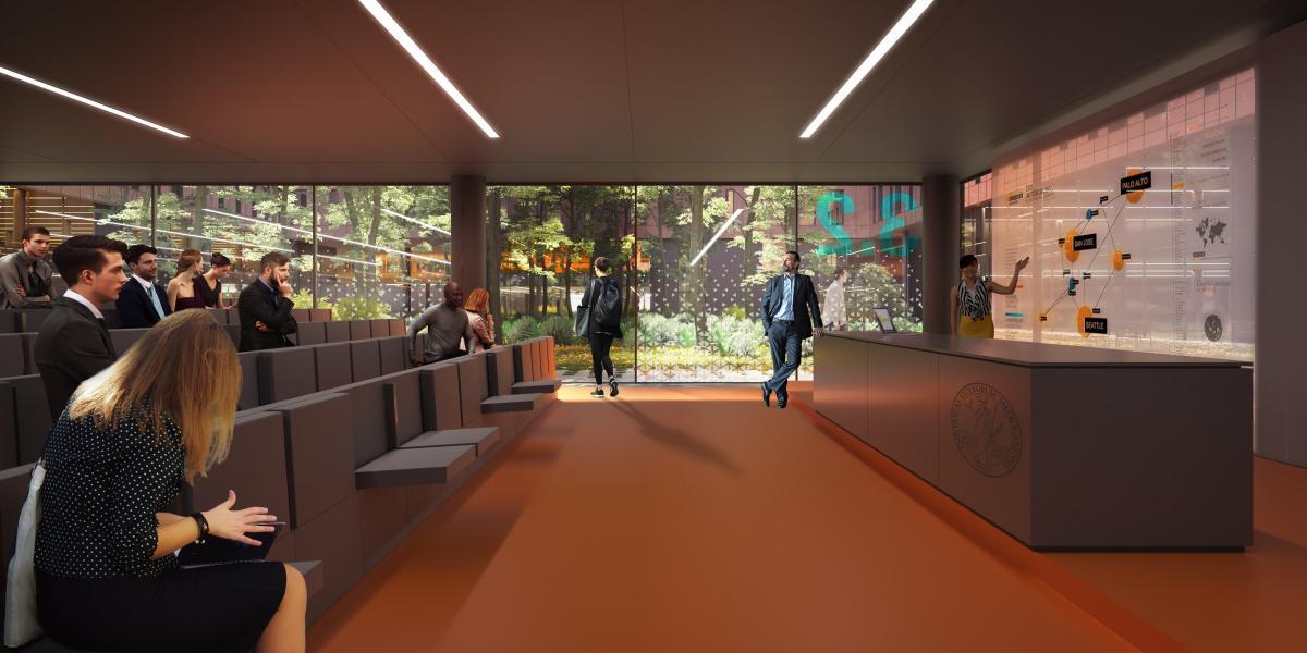 Il Campus della Statale a Mind: un'aula (Rendering Studio Carlo Ratti e Associati)