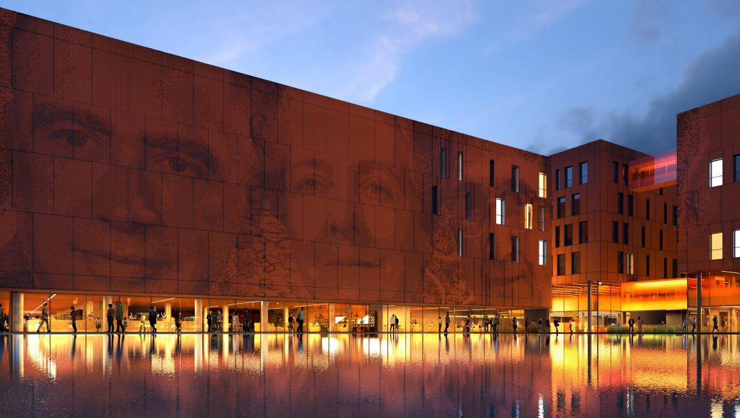 Il Campus della Statale a Mind: la piazza (Rendering Studio Carlo Ratti e Associati)
